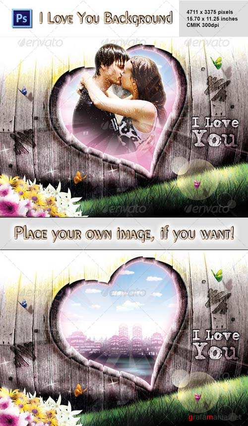 GraphicRiver I Love You Background