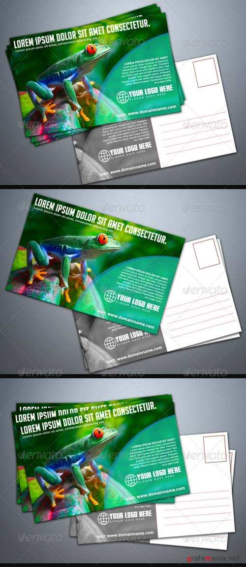 GraphicRiver Photorealistic Postcard Mock-Up