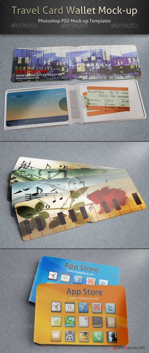 GraphicRiver Travel Card Wallet Mock-up