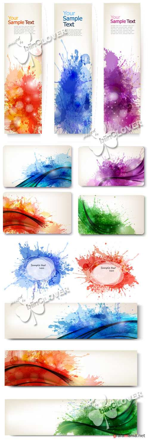 Colorful abstract banners 0439