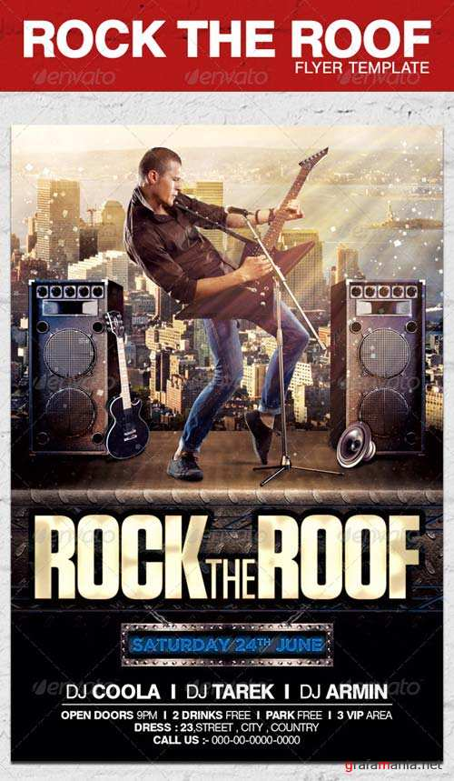GraphicRiver Rock The Roof Flyer Template