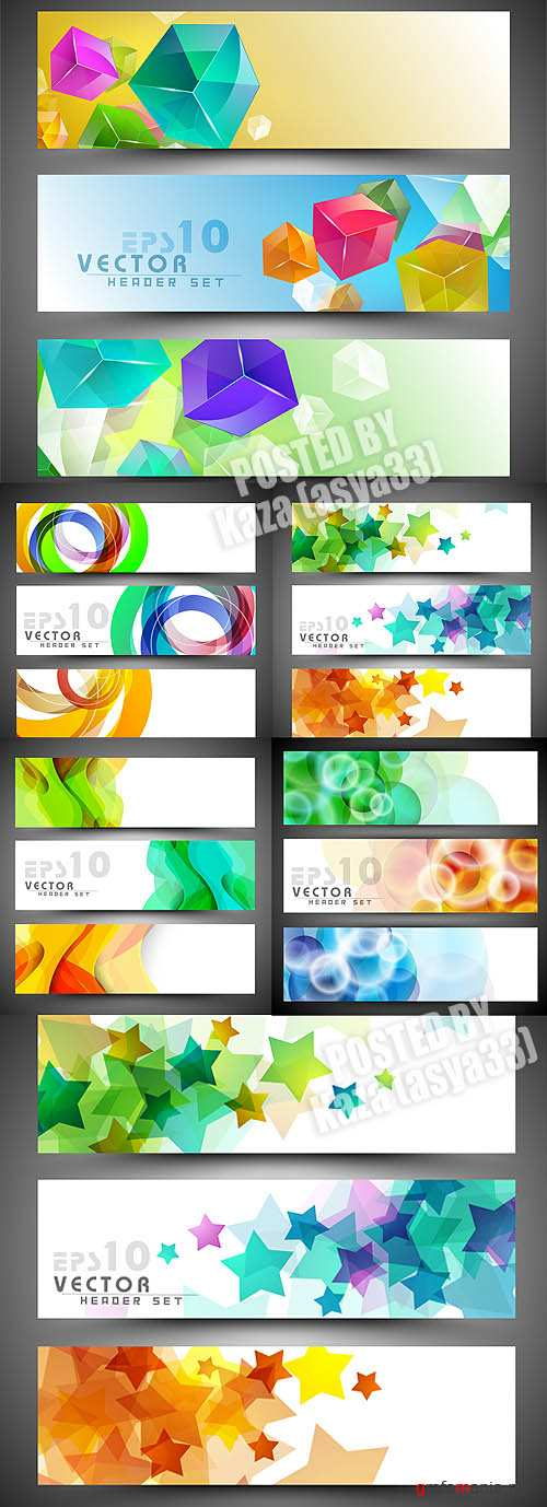 Abstract banners 10