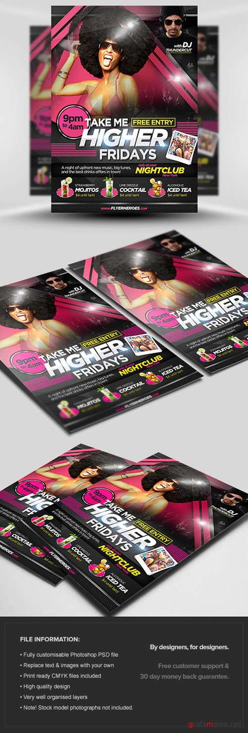 Take Me Higher Flyer/Poster PSD Template
