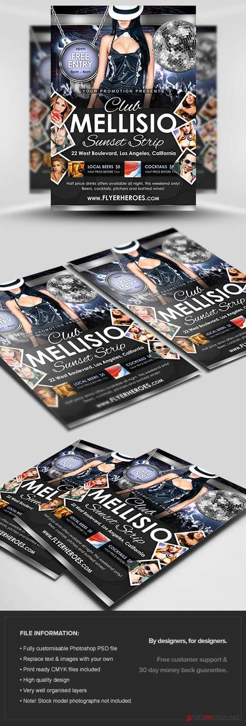 Mellisio Flyer/Poster PSD Template