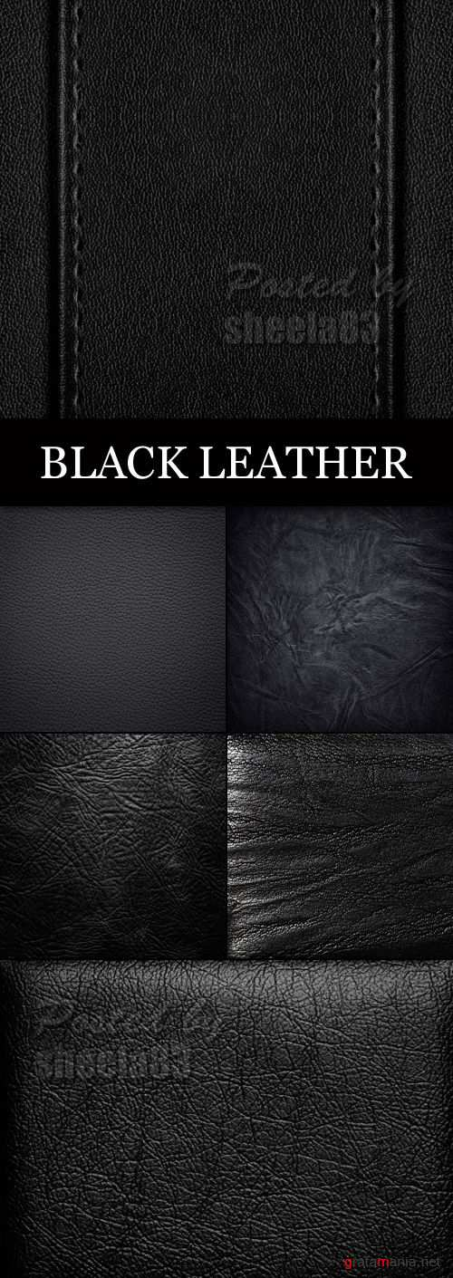 Stock Photo - Black Leather Backgrounds