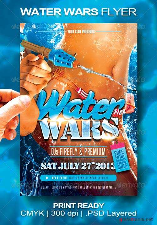 GraphicRiver Water Wars Flyer