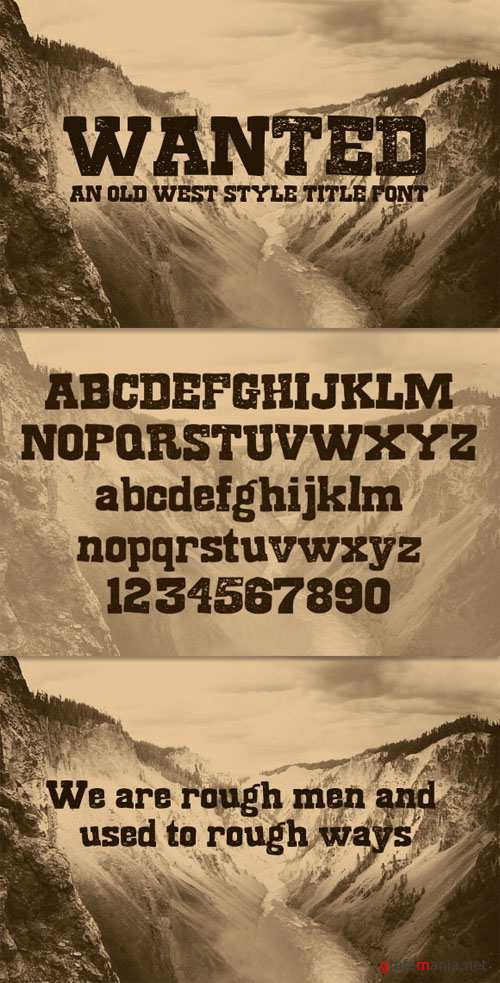 WeGraphics - Wanted - A Old West Style Title Font