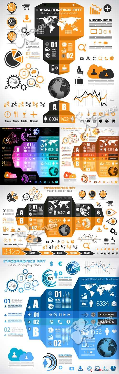 Infographic design elements and tags 0444