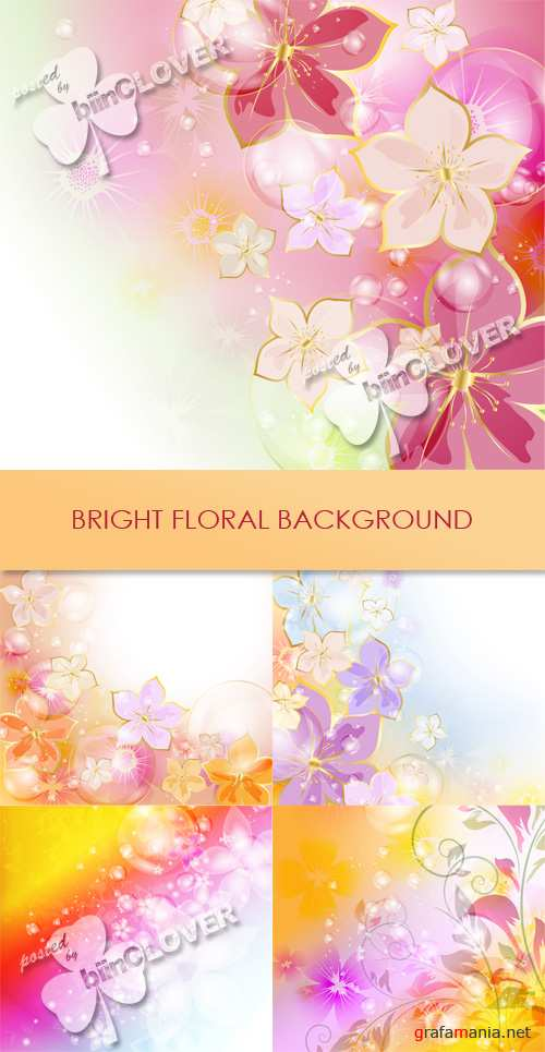 Bright floral background 0445