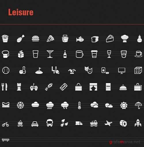 60 Leisure Vector Icons
