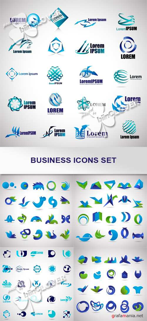 Business icons set 0446