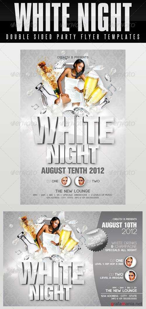 GraphicRiver White Night Party Flyer Templates