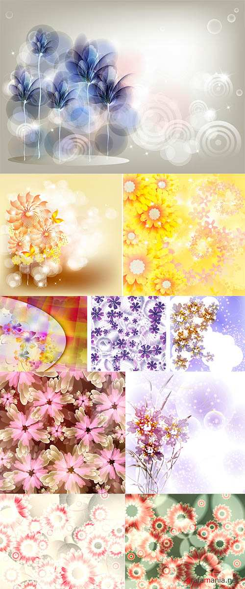 Stock: Flowers on bright a background