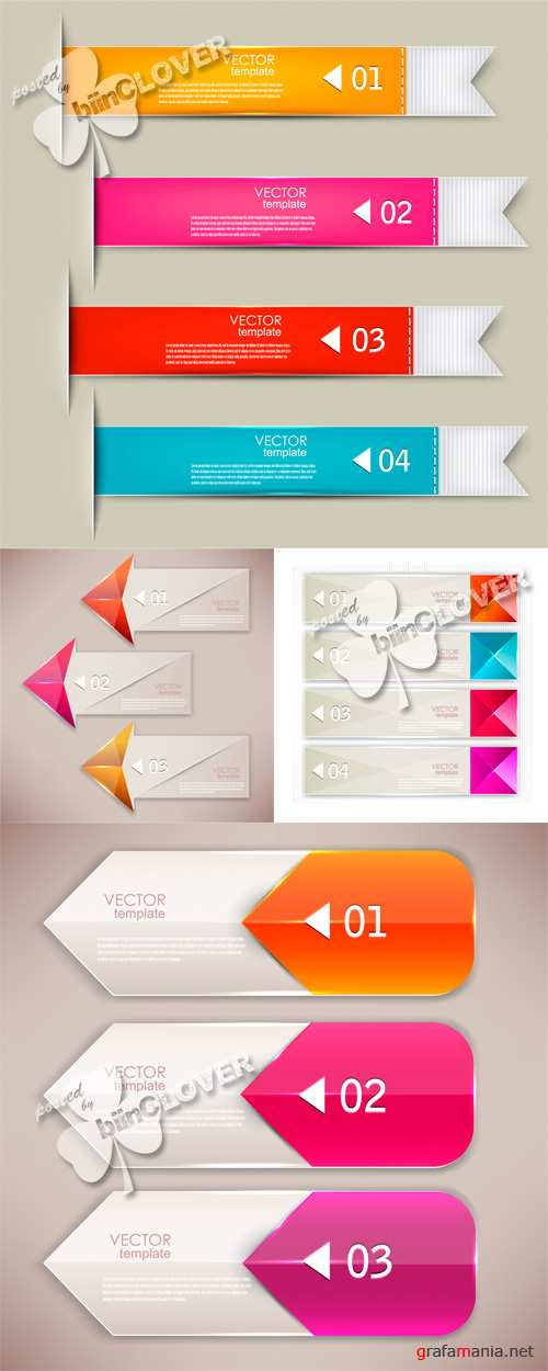 Set of bookmarks and arrows 0450