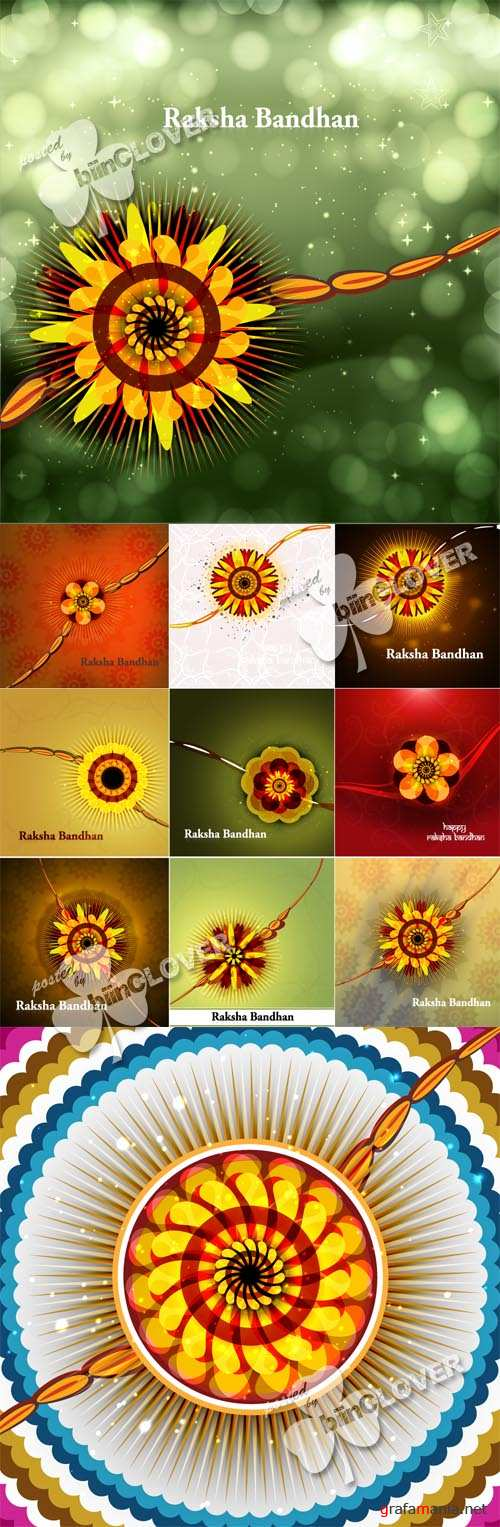 Raksha Bandhan colorful illustration 0455