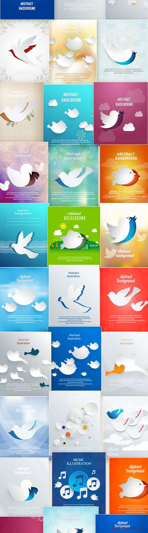 50 Abstract 3D Vector Illustrations
