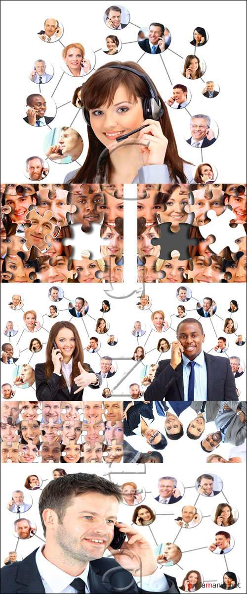 Люди операторы / People from call center - stock photo
