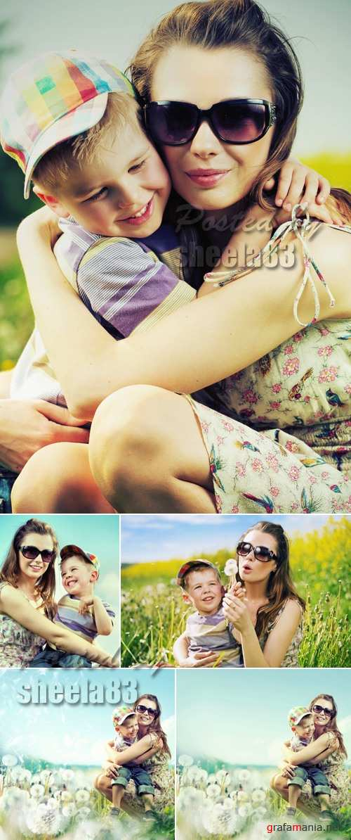 Stock Photo - Mother & Son