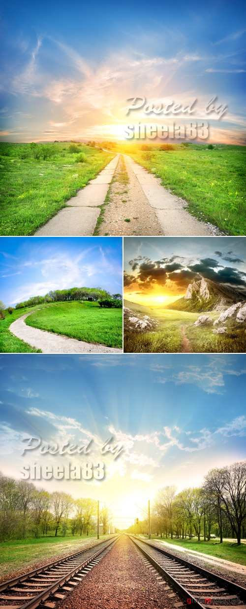 Stock Photo - Various Type Roads
