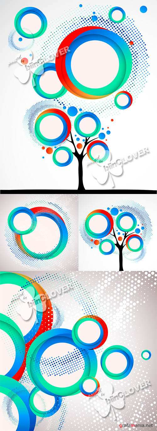 Abstract circle background 0467