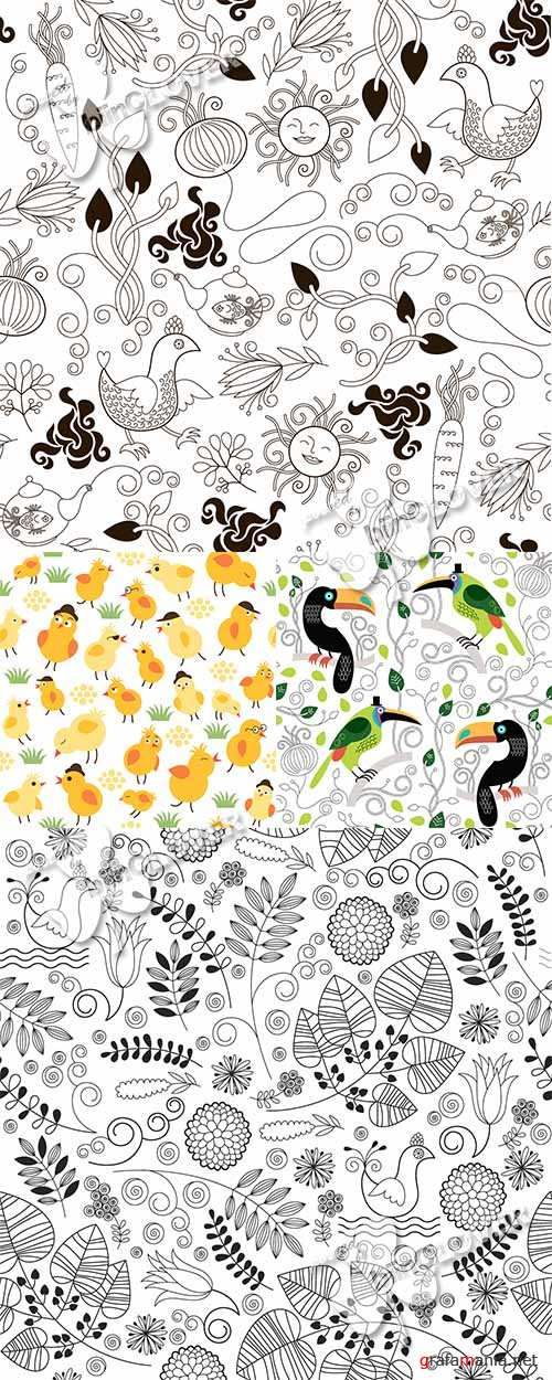 Funny seamless floral pattern 0467
