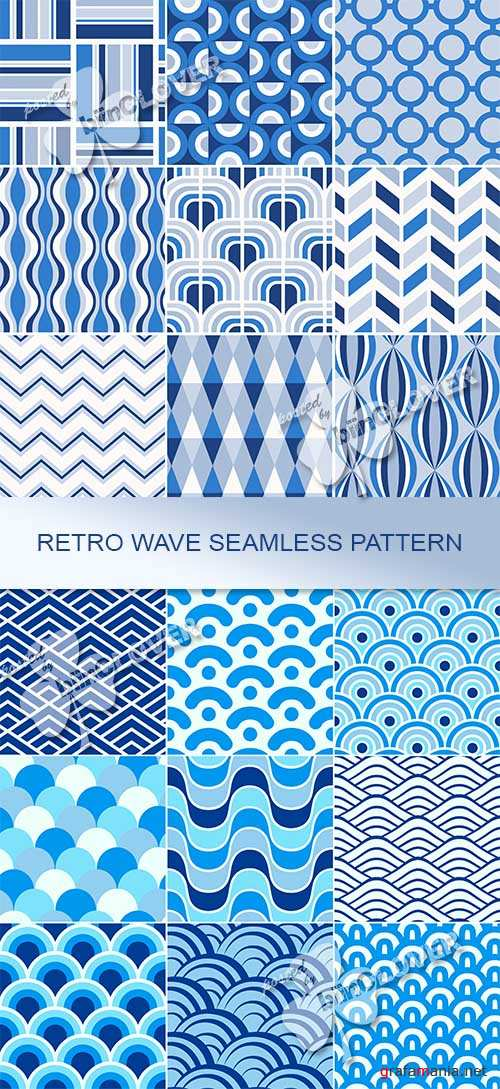 Retro wave seamless  pattern 0467