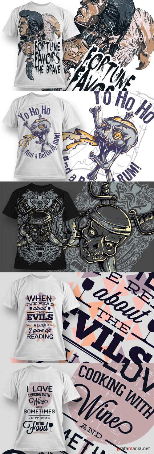T-Shirt Vector Design Set 16