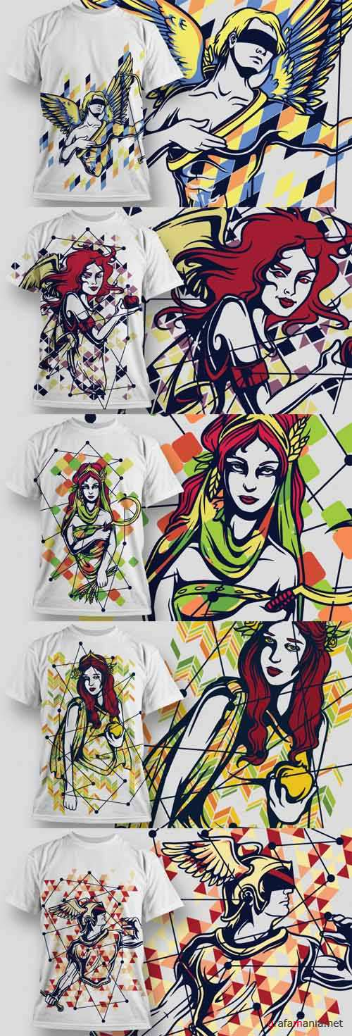 T-Shirt Vector Design Set 17