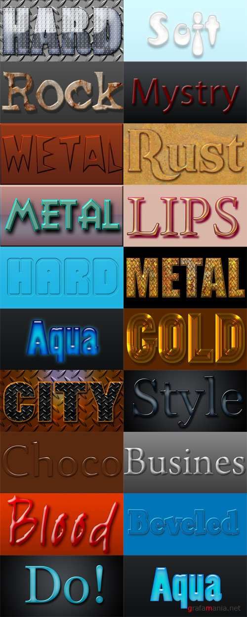 20 Layered Photoshop Styles Set 5