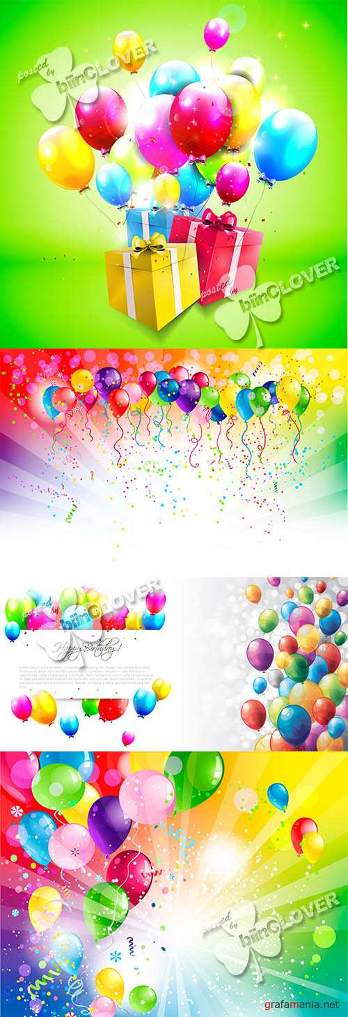 Holiday background with balloons 0470