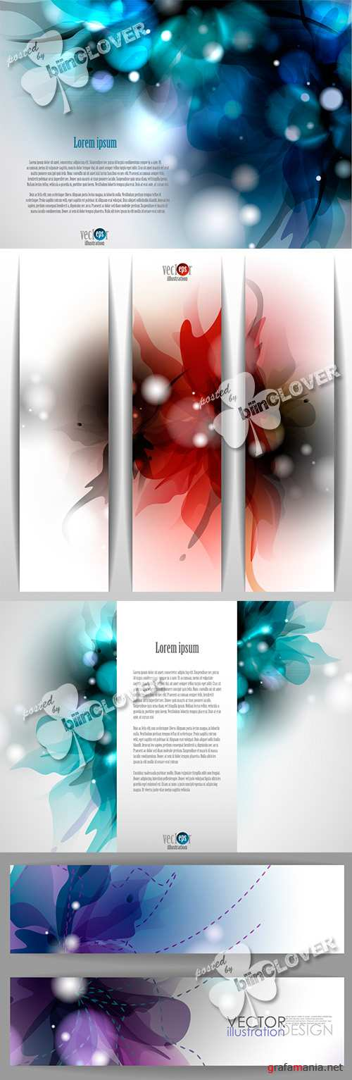 Floral backgrounds and banners 0470