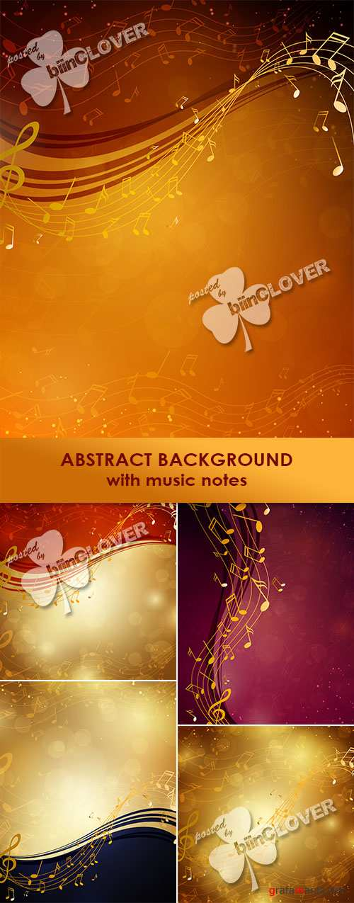 Abstract background with music notes 0470