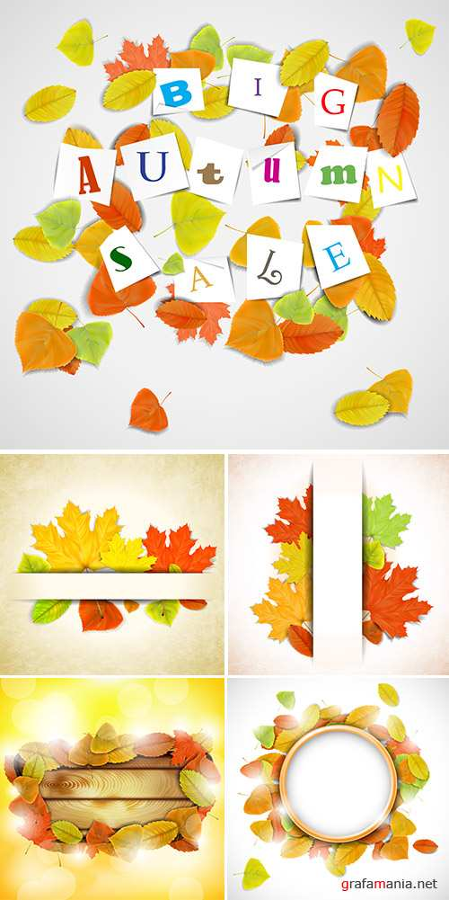Stock: Abstract autumn background