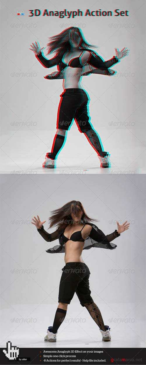 GraphicRiver 3D Anaglyph Action Set