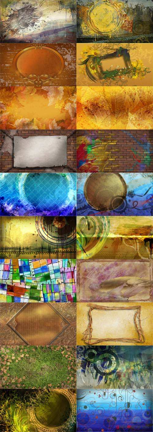 20 Abstract Grunge PSD Backrounds
