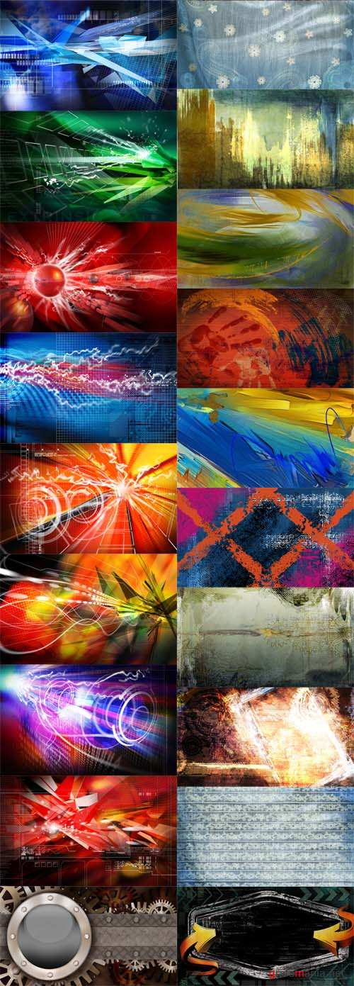 22 PSD Abstract Grunge and Tech Bacgrounds