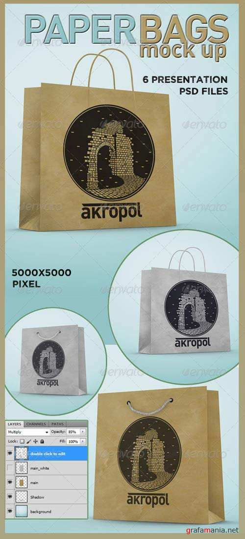 GraphicRiver Paper Bags Mock Up