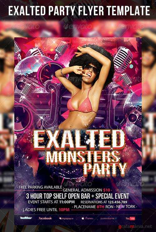 GraphicRiver Exalted Party Flyer Template