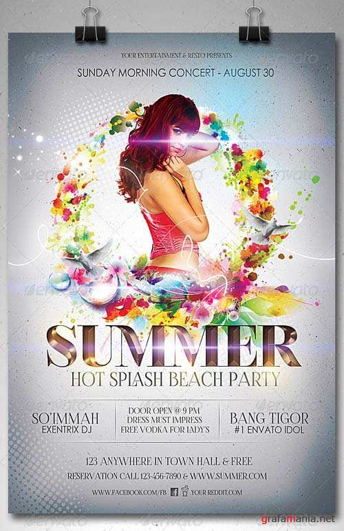 GraphicRiver Summer Splash Party Flyer