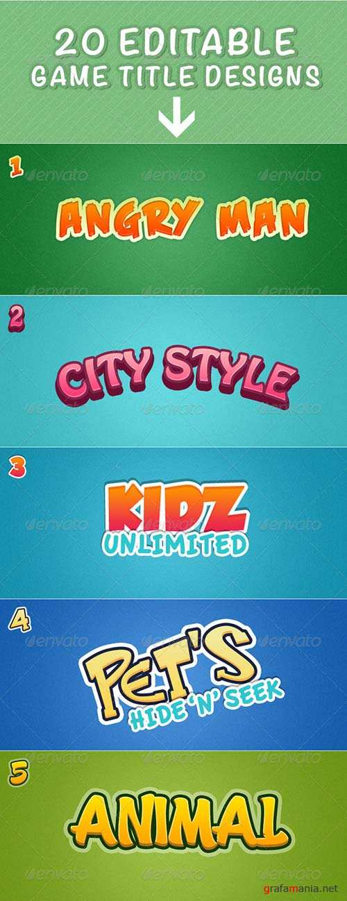 GraphicRiver 20 Game Title Designs
