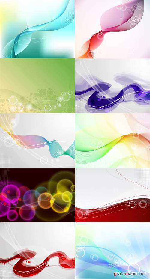 Abstract Vector Backgrounds Set 1