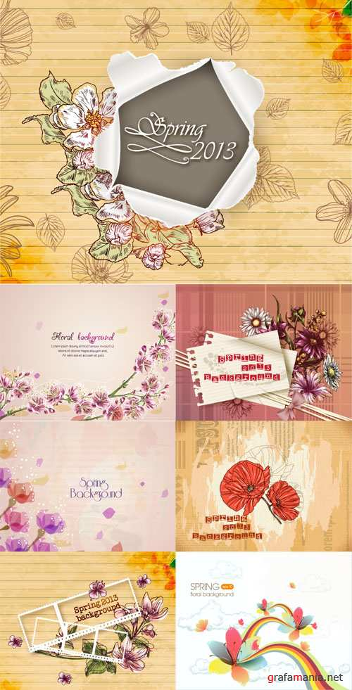 Spring Floral Illystrations Set 1
