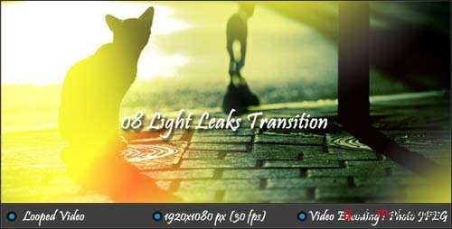 Light Leaks Transition - After Effects Motion Graphics (Videohive)