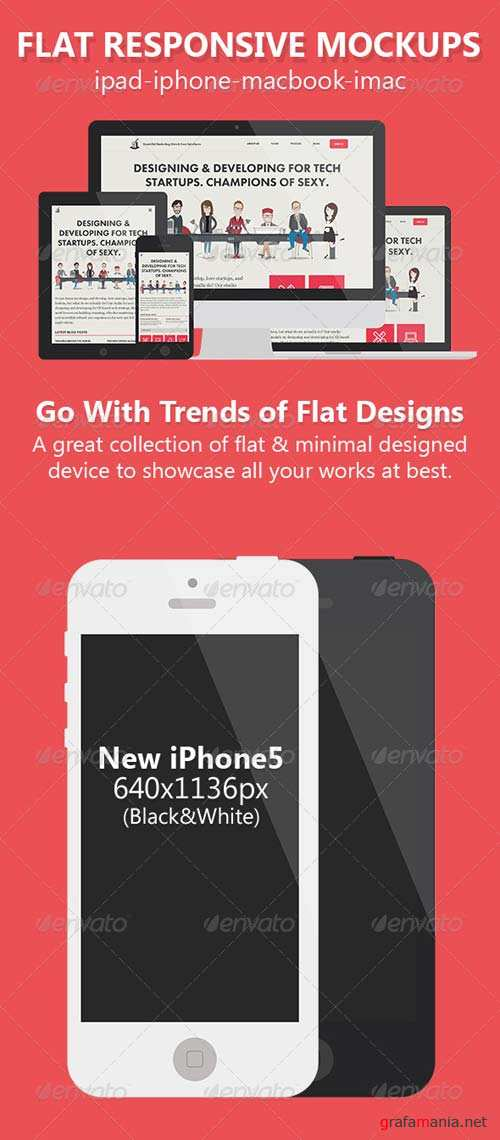 GraphicRiver Flat Responsive Screen Mockups