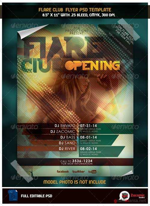 GraphicRiver Flare Club Opening