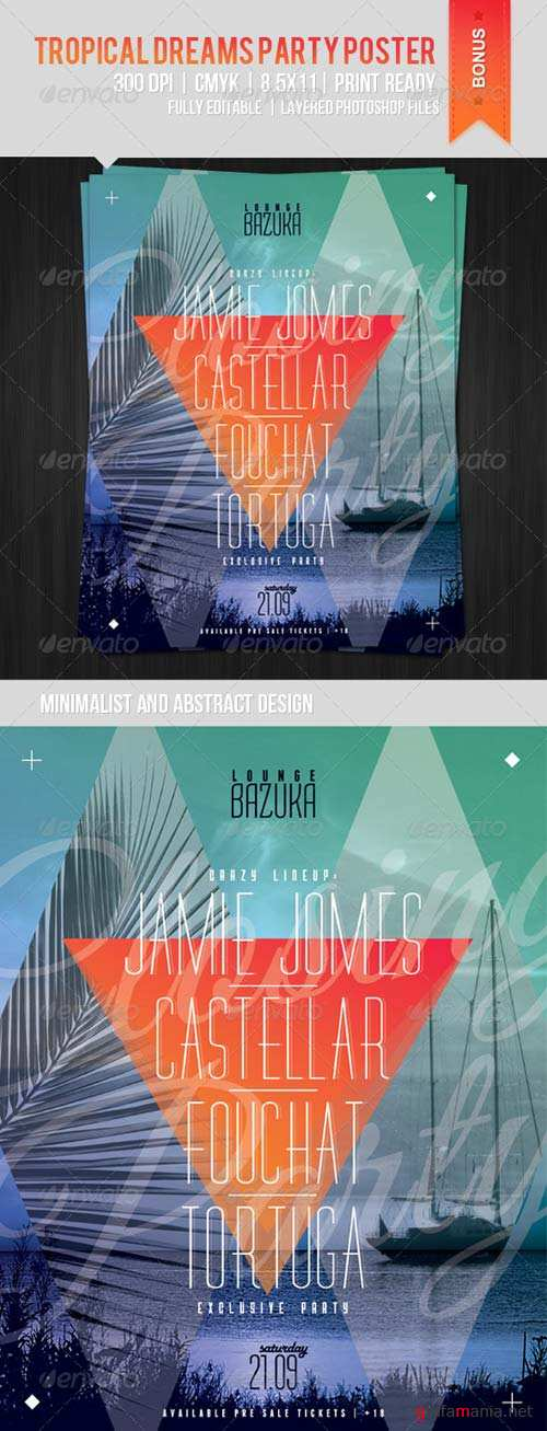 GraphicRiver Tropical Dreams Party Poster