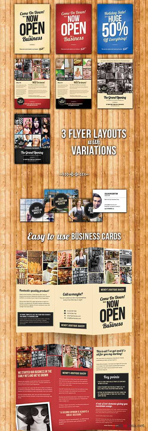 Business Pack - Flyers, Business Cards and Tri-Fold Brohures