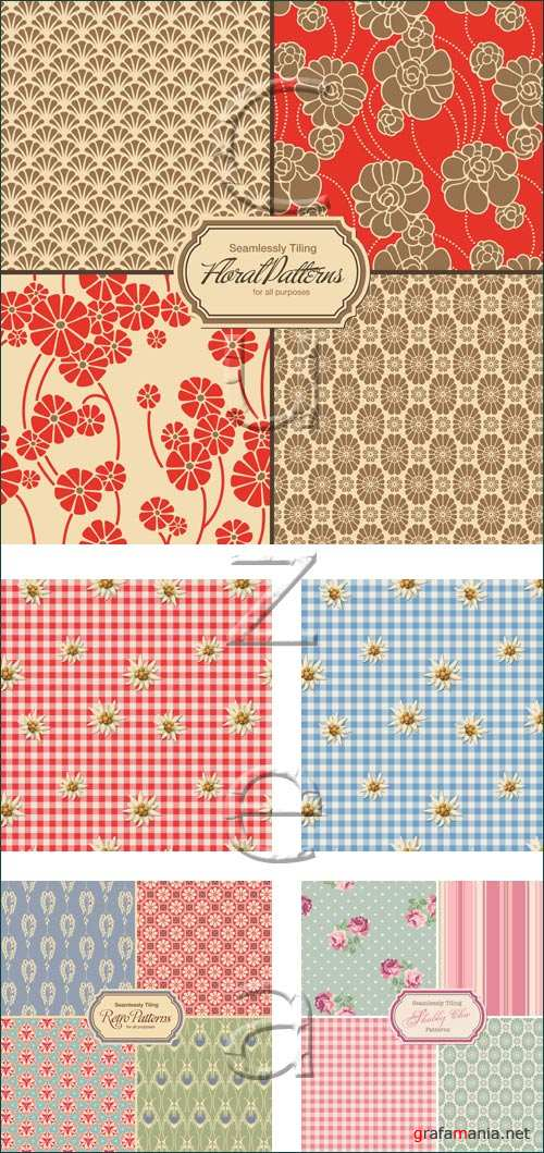 Floral backgrounds, 20 - vector stock
