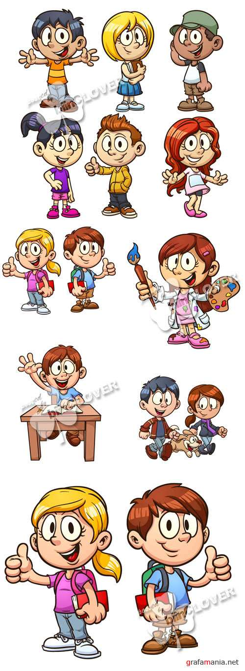 Cute cartoon children 0491