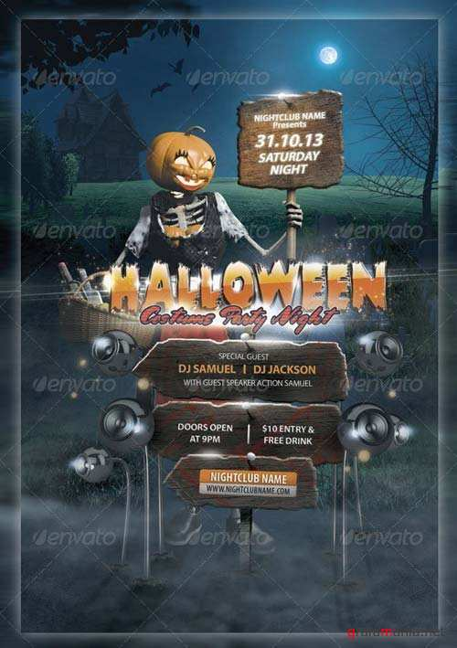 GraphicRiver Halloween Costume Party Night Flyer